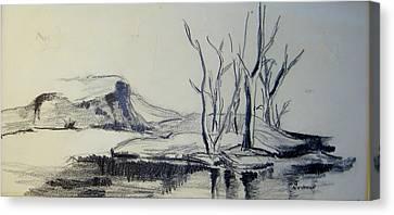 Colorado Pencil Sketch Canvas Print by Judith Redman