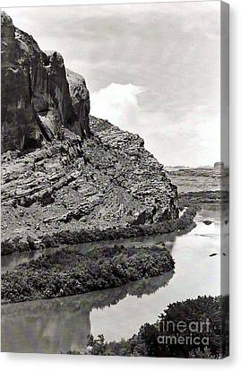 Canvas Print featuring the photograph Colorado River by Juls Adams