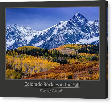 Colorado Rockies In The Fall - Ridgway Canvas Print by Gary Whitton