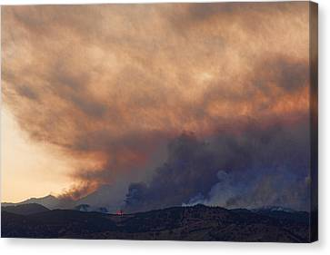 Colorado Rockies On Fire Canvas Print by James BO  Insogna