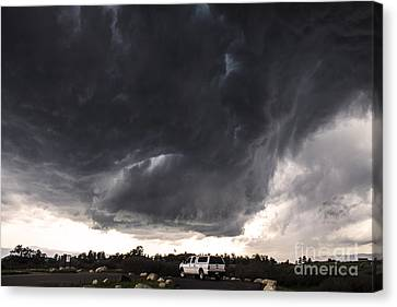 Colorado Rockies Supercell Canvas Print by Francis Lavigne-Theriault