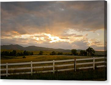 Colorado Rocky Mountain Country Sunset Canvas Print by James BO  Insogna