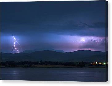 Canvas Print featuring the photograph Colorado Rocky Mountain Foothills Storm by James BO Insogna