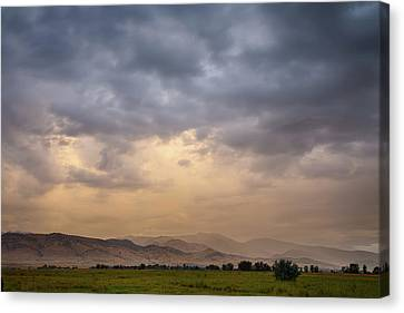 Canvas Print featuring the photograph Colorado Rocky Mountain Foothills Storms by James BO Insogna