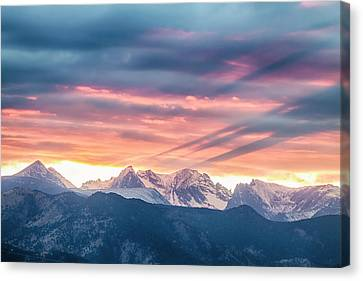 Colorado Rocky Mountain Sunset Waves Of Light Part 2 Canvas Print by James BO Insogna