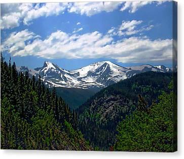 Colorado Rocky Mountains Canvas Print by Anthony Dezenzio