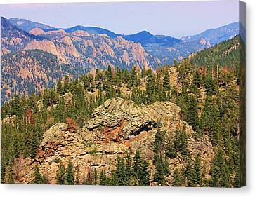 Canvas Print featuring the photograph Colorado Rocky Mountains by Sheila Brown