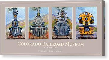 Colorado Rr Museum Quadtych Canvas Print by Gary Symington