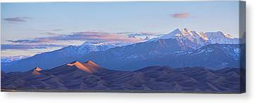 Colorado Sand Dunes First Light Sunrise Panorama Canvas Print by James BO Insogna