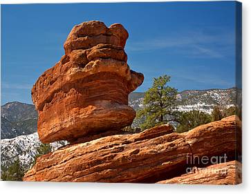 Canvas Print featuring the photograph Colorado Springs Balanced Rock by Adam Jewell