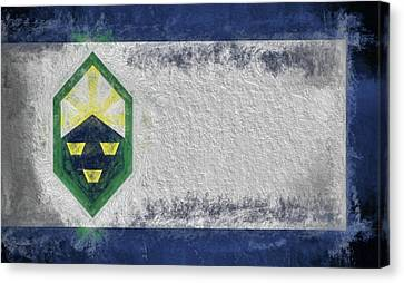 Canvas Print featuring the digital art Colorado Springs City Flag by JC Findley