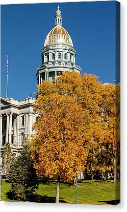 Colorado State Capitol Building Canvas Print by Teri Virbickis
