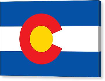Colorado State Flag Canvas Print by American School