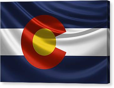 Colorado State Flag Canvas Print by Serge Averbukh