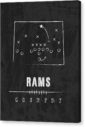 Colorado State Rams / Ncaa College Football Art / Fort Collins Canvas Print by Damon Gray