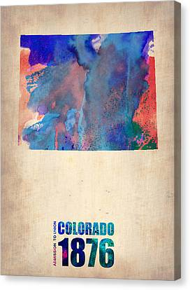 Colorado Watercolor Map Canvas Print