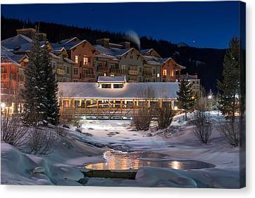 Colorado Winter Evening Canvas Print by Michael J Bauer