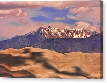 Colorado's Great Sand Dunes Shadow Of The Clouds Canvas Print