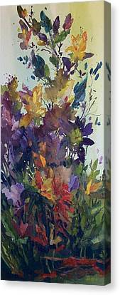 Canvas Print featuring the painting Colorburst by Helen Harris
