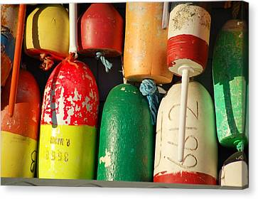 Colored Buoys Canvas Print