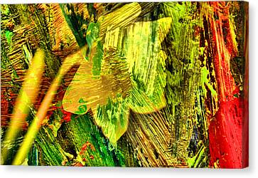 Colored Daffodil Abstract Canvas Print