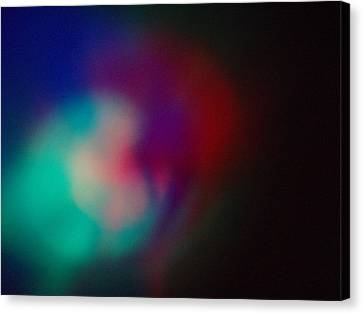 Canvas Print featuring the photograph Colored Lights by Alexandra Masson
