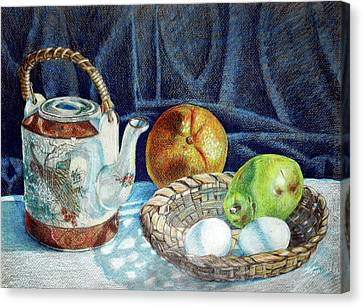 Colored Pencil Still Life No2 Canvas Print by Stephen Boyle