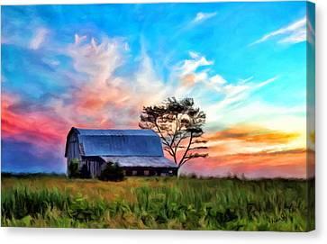 Colored Sunrise Canvas Print