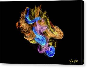 Canvas Print featuring the photograph Colored Vapors by Rikk Flohr