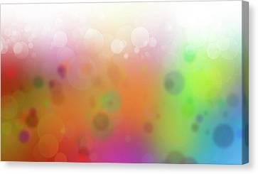 Colorful Abstract 2 Canvas Print by Les Cunliffe