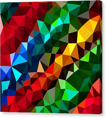 Colorful Abstract Canvas Print by Alex Zel