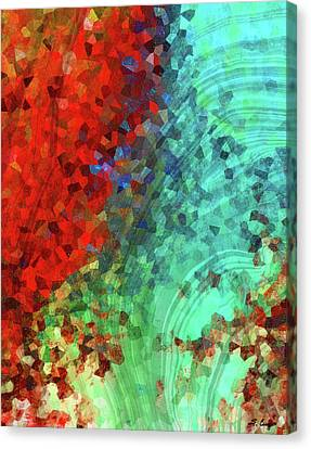 Colorful Abstract Art - Rejoice - Sharon Cummings Canvas Print