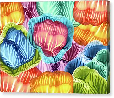 Colorful Abstract Flower Petals Canvas Print by Amy Vangsgard