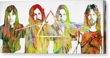 Colorful Abstract Pink Floyd Canvas Print by Dan Sproul
