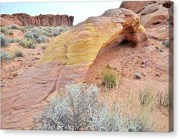 Canvas Print featuring the photograph Colorful Arch In North Valley Of Fire by Ray Mathis