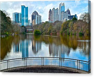 Colorful Atlanta Skyline Canvas Print