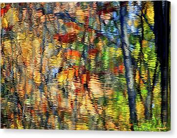 Colorful Autumn Reflection Canvas Print
