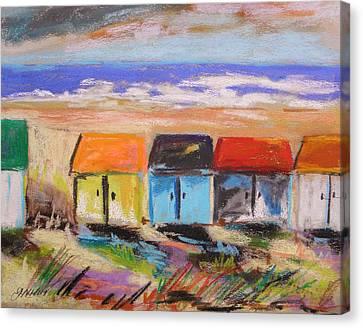 Colorful Beach Houses Canvas Print by John Williams