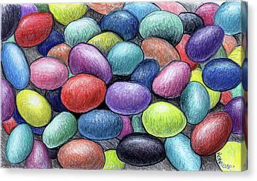 Colorful Beans Canvas Print by Nancy Mueller