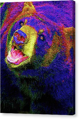Colorful Bear Canvas Print by Karol Livote