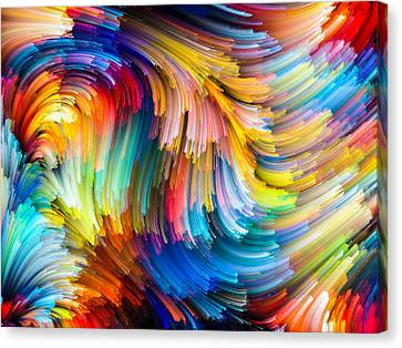 Colorful Beauty Canvas Print by Karen Showell