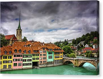 Colorful Bern Switzerland  Canvas Print