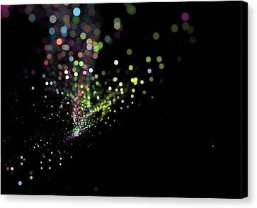 Colorful Bokeh Particles Background Canvas Print