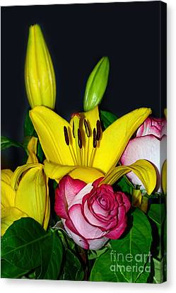 Colorful Bouquet By Kaye Menner Canvas Print by Kaye Menner