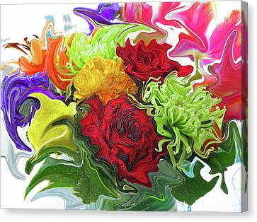 Colorful Bouquet Canvas Print by Kathy Moll