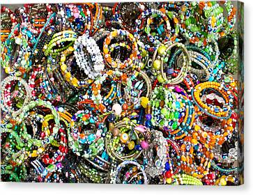 Colorful Bracelets Canvas Print by Tom Gowanlock