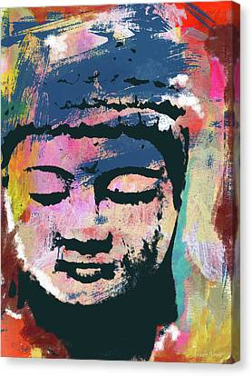 Prayer Canvas Print - Colorful Buddha 1- Art By Linda Woods by Linda Woods