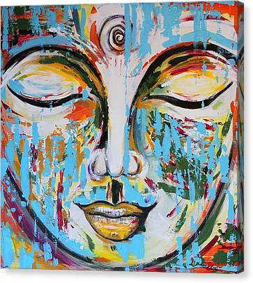 Colorful Buddha Canvas Print