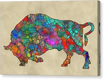 Colorful Buffalo Canvas Print by Jack Zulli