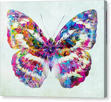 Colorful Butterfly Art Canvas Print by Olga Hamilton